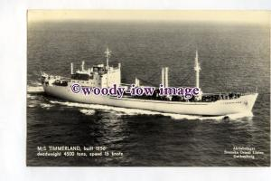 pf0365 - Swedish Orient Line Cargo Ship - Timmerland , built 1956 - postcard