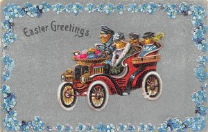 Chicken Post Card Easter Greetings 1908