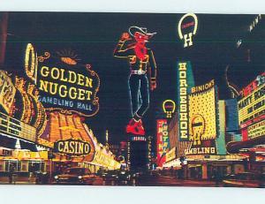 Unused Pre-1980 CASINO NEON SIGNS ON FREMONT STREET Las Vegas Nevada NV F0622