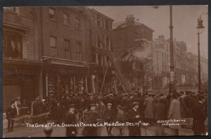 Kent Postcard - The Great Fair,Denniss Paine & Co, Maidstone Dec 17th 1910 DD125