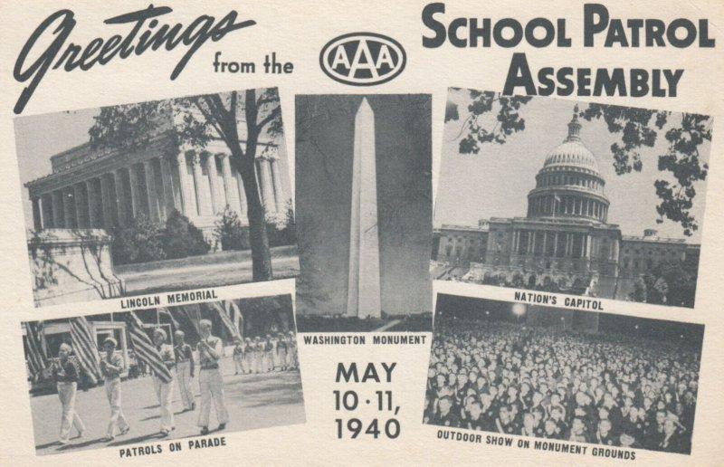 WASHINGTON D.C. , 1940 ; School Patrol Assembly