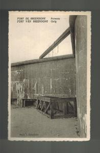 Mint 1940s Fort Breendonk Belgium Concentration Camp RPPC Postcard Gallows