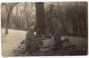 RPPC, 3 Soldiers with a Radio
