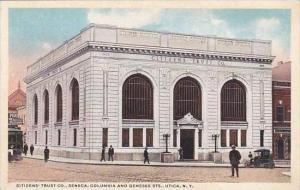 New York Utica Citizens' Trust Company Bank 1916