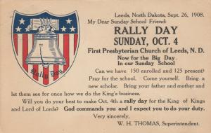 LEEDS , North Dakota , 1908 ; First Presbyterian Church RALLY DAY