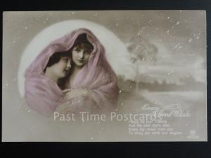 Greeting: CHRISTMAS, Every Good Wish - Happy be your Yultide...Old Postcard
