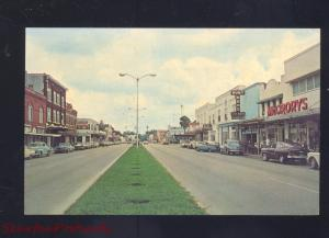 KISSIMMEE FLORIDA DOWNTOWN STREET SCENE 1950's CARS VINTAGE
