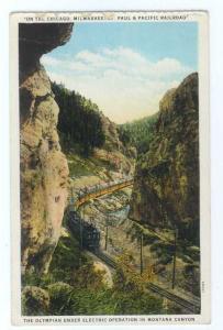 W/B Milwaukee Road Olympian in Montana Canyon MT