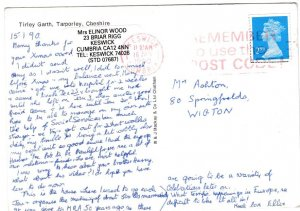 Postcard Cheshire Tarporley Tirley Garth