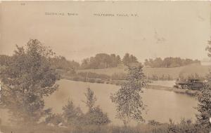E4/ Wolfeboro Falls New Hampshire NH RPPC Postcard c1910 Railroad Depot