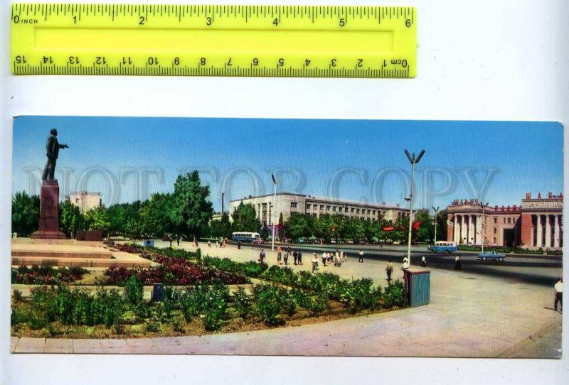 228781 Tajikistan Dushanbe Lenin square old postcard