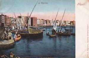 Sailboats, La Marina, Napoli (Campania), Italy, 1900-1910s