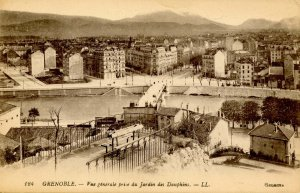 France - Grenoble. General View taken from Dauphins Gardens