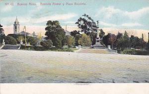Avenida Alvear Y Plaza Recoleta, Buenos Aires, Argentina, PU-1908