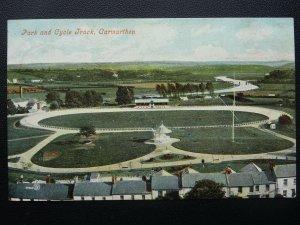 Wales CARMARTHEN Park, Cycle Track / Velodrome c1906 Postcard by Valentine 33729