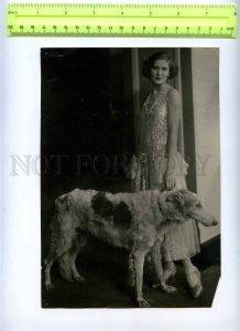 230368 USSR LENINGRAD Circus Ciniselli greyhound trainer photo
