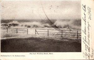 Massachusetts Winthrop Surf At Winthrop Beach 1905