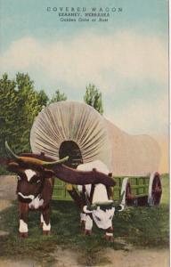 Nebraska Kearney Covered Wagon 1952 Curteich