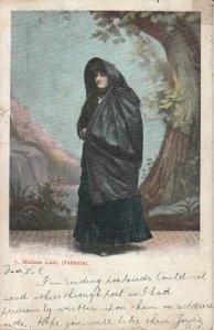 Maltese Ethnic Lady Faldetta Folk Costume 1907 postcard