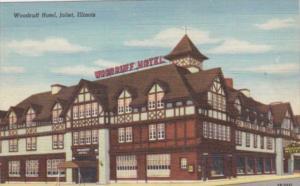 Illinois Joliet Woodruff Hotel Curteeich