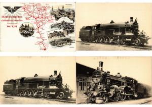 AUSTRIA , RAILWAY TRAINS LOCS 24 CPA Incl. DUPLICATIONS