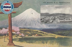 HONOLULU , Hawaii , 1913 ; Waterfront , Pacific Mail Steamship Company