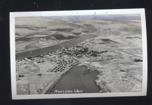 RPPC MOSES LAKE WASHINGTON AERIAL VIEW ELLIS 8244 REAL PHOTO POSTCARD