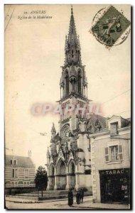 Old Postcard Angers Madeleine Church Tobacco