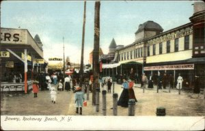 Rockaway Beach Long Island NY Bowery c1910 Postcard