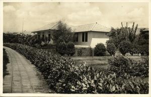 curacao, N.W.I., Modern Living Houses (1940s) RPPC Postcard