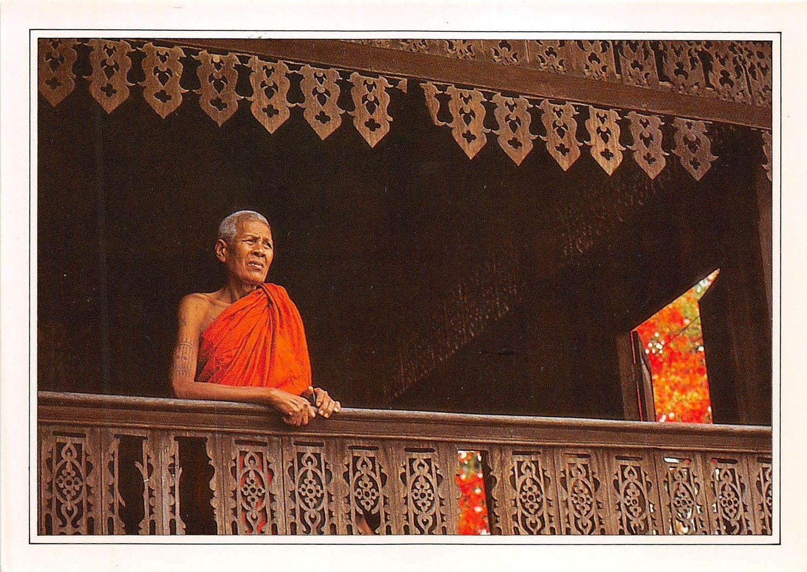 BF36417 thailand an old buddhist monk front/back scan ...