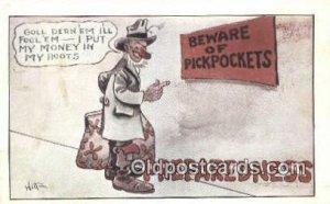Artist Witt 1917 crease left top corner, postal used unknown