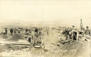 Cripple Creek, Colorado, Gold Mining, Miners at Work (1930s) RPPC