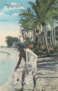HAWAIIAN ISLANDS, 1900-10s; Fisherman Casting Net