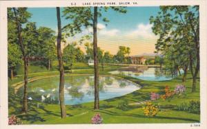 Virginia Salem Lake Spring Park