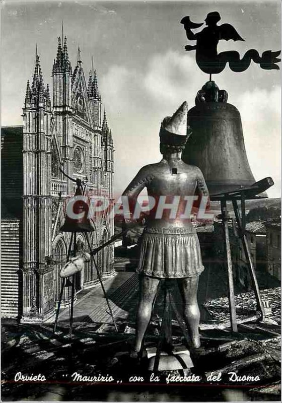 Postcard Modern Orvielo Mauririo con la del Duomo faccoata
