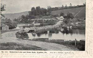 LPS81 Kimbles Pennsylvania Reflection Lake Stone Dock Private Mailing Card