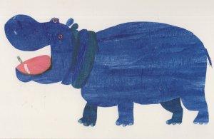 Hippo From Polar Bear Polar Bear What Do You Hear Eric Carle Postcard