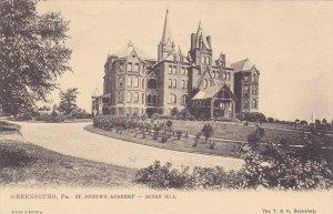 GREENSBURG, Pennsylvania, 1900-1910's; St. Joseph's Academy, Seton Hill