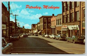 Petoskey Michigan~Lake Street~Tom Thumb Model Car Racing~Shoe Repair~1960s Cars