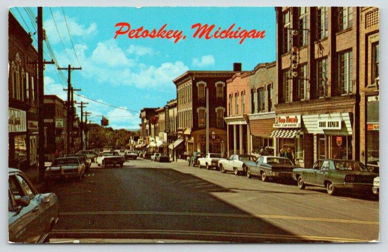 Petoskey Michigan~Lake Street~Tom Thumb Model Car Racing~Shoe Repair~1960s Cars