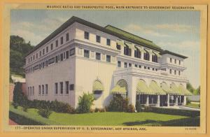 Hot Springs National Park, Ark., Maurice Bath House under Government supervision