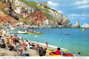 Vintage 1966 Torquay Devon Postcard Redgate Beach 70E