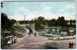 GRAND RAPIDS, Michigan  MI    JOHN BALL PARK  1907    Postcard