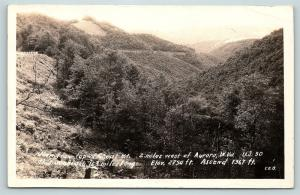 Postcard WV Aurora Top of Cheat Mountain US Route 50 RPPC Real Photo R02