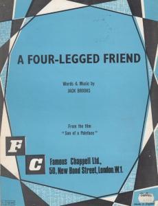 A Four Legged Friend Jack Brooks 1940s Sheet Music