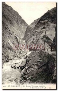 Old Postcard Dauphine Du Bourg d Oisans to the torrent of Lautaret Infernet
