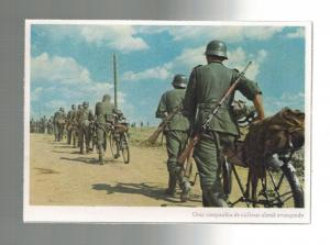 Mint WW2 Germany Army Wehrmacht Infantry Bicycles Color Postcard RPPC from Spain