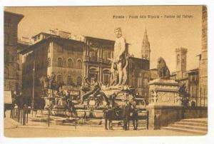 Piazza Della Signoria-Fontana del Nettuno, Firenze Italy, 00-10s