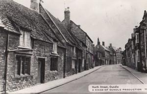 North Street Oundle Vintage Real Photo Postcard